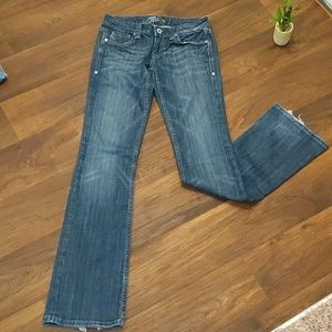 Miss Me dark wash boot cut jeans size 28